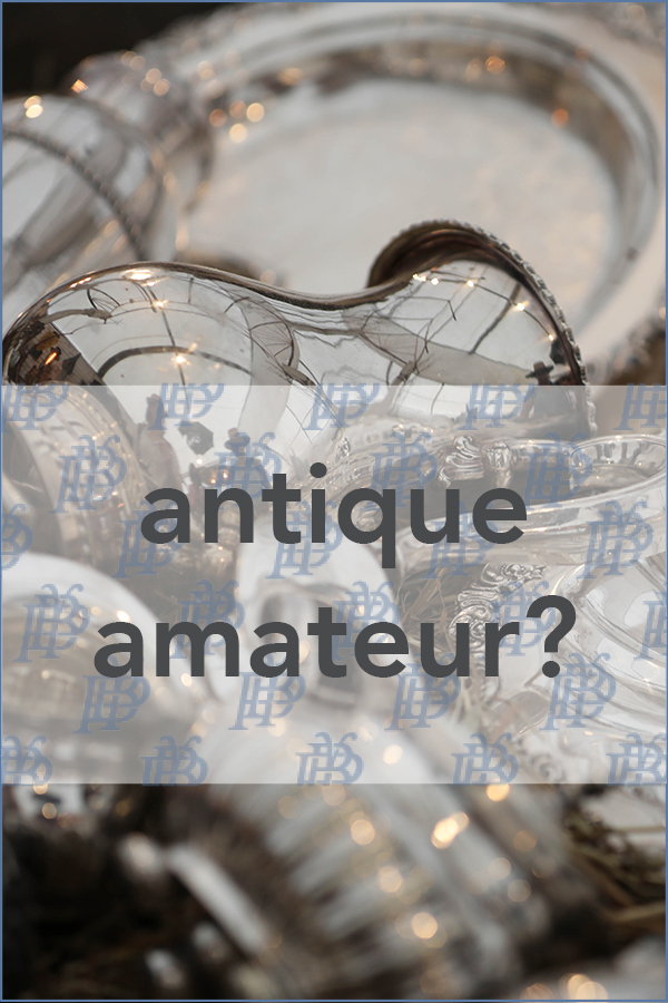 a field guide for antiquing amateurs.