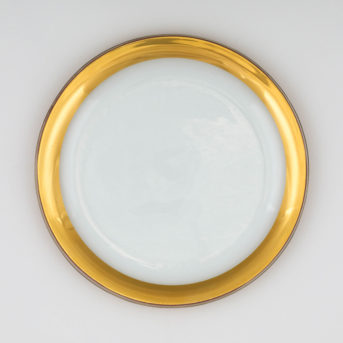 Annieglass Gold Roman Antique Dinner Plate / qty 48 / $5 each