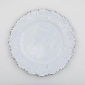 Arte Italica Bella Bianca Beaded Dinner Plate / qty 48 / $5 each