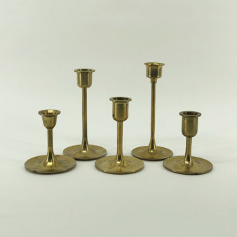 Assorted Brass Modern Candle Holders