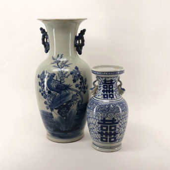 Assorted Blue + White Chinese Vases
