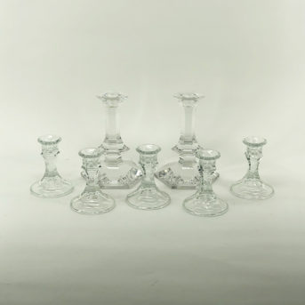 Assorted Crystal + Glass Candle Holders