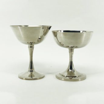 Assorted Silver Champagne Coupe / qty 16 / $4 each