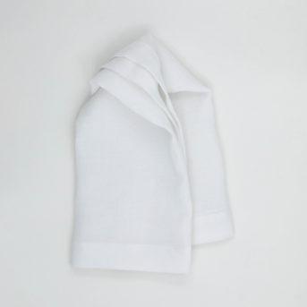 Bodrum Riviera Pure White Dinner Napkin / qty 60 / $3