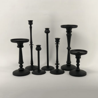 Booker Black Candle Holders