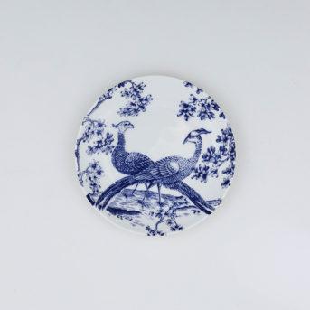 Caskata Blue Chinoiserie Toile Canape Plate / qty 72 / $2 each