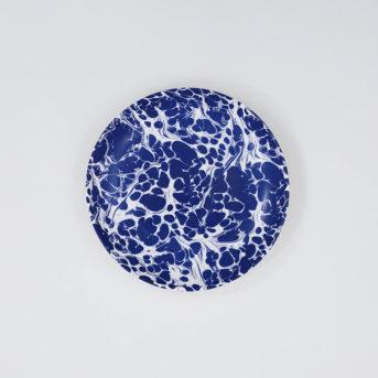 Caskata Blue Marble Canape Plate / qty 72 / $2 each