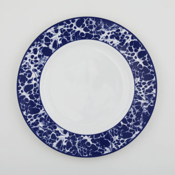 Caskata Blue Marble Dinner Plate / qty 72 / $4 each