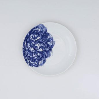 Caskata Blue Peony Canape Plate / qty 72 / $2 each