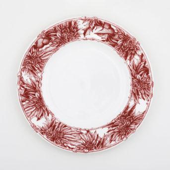 Caskata Poinsettia Dinner Plate / qty 72 / $4 each