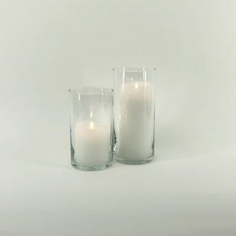 Cylinder Glass Hurricanes // 2 sizes
