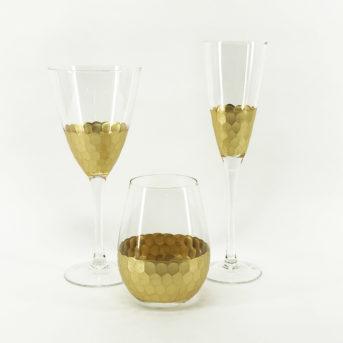 Fez Gold Glassware / qty 90 each / $2.50 per piece