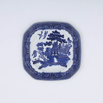 Vintage Johnson Brothers Blue Willow Square Salad Plate / qty 24 / $5 each