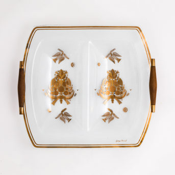Mid-Century Georges Briard Double Serving Dish
