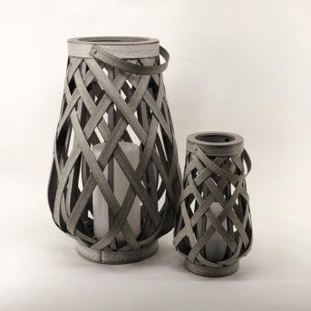 Outdoor Resin Weathered Grey Lanterns // 2 sizes