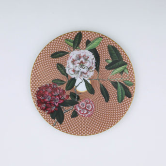 Raynaud Tres Fleuri Beige Rhododendron Salad Plate / qty 36 / $9 each
