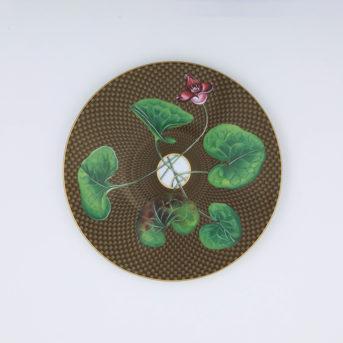 Raynaud Tresor Fleuri Marron Salad Plate / qty 20 / $9 each