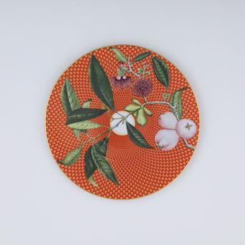 Raynaud Tresor Fleuri Orange Pomme Deau Salad Plate / qty 20 / $9 each