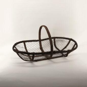 Vintage Bark + Wire Gathering Basket