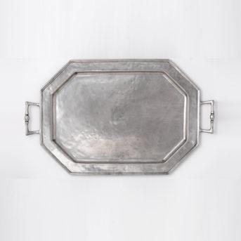 Arte Italica Peltro Hexagonal Pewter Serving Tray / 23.5″ / qty 1 / $10