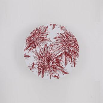 Caskata Poinsettia Canape Plate / qty 72 / $2 each
