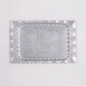 Vintage Aluminum Rectangular Tray / 18″ / qty 1 / $4