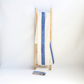Blue + White Guatemalan Blanket + Tablecloth / qty 2 / $15 each