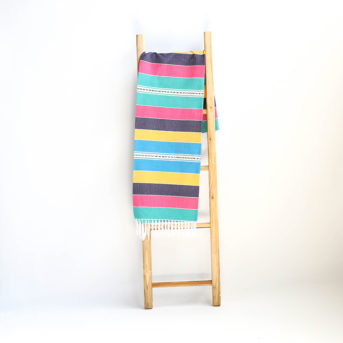 Multi-Color Striped Mexican Blanket + Tablecloth / qty 1 / $10