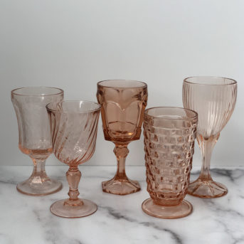 Peach Pressed Glass / qty 59 / $3 each