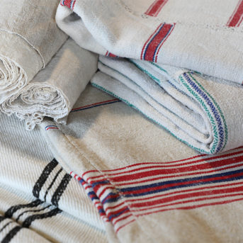 Vintage French Linen Blankets/Tablecloths and Runners