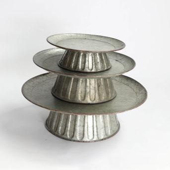 Galvanized Round Cake Stand // 3 sizes