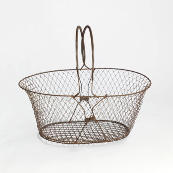 Vintage Wire Basket with Handles