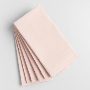 Blush Cotton Dinner Napkin / qty 36 / $2.50
